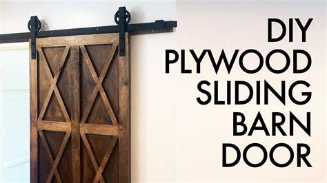 diy plywood sliding barn door     build