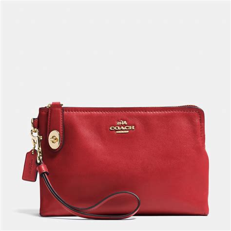 couch wristlet coach official site official page large pouch wristlet in