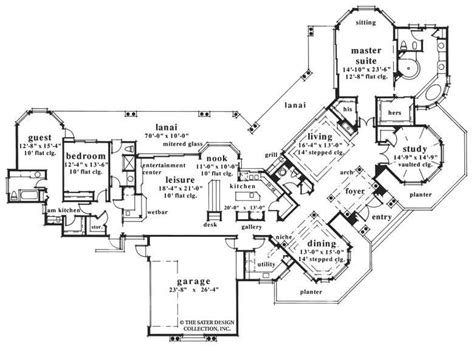 home plan castlepines trace sater design collection