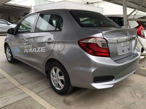 honda amaze vs brio honda brio amaze facelift rear quarter thailand live pics