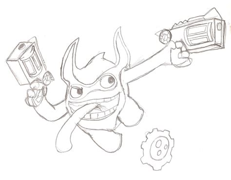 trigger happy sketch by xero j on deviantart