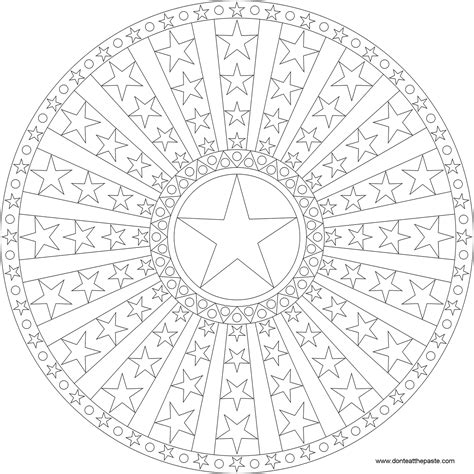 don t eat the paste stars dots and stripes mandala to color