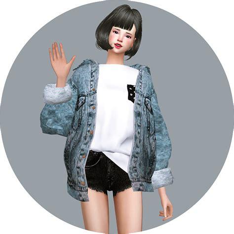 Acc vintage denim jacket sims4 marigold