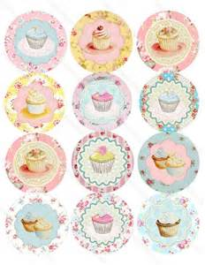 vintage tea party cupcakes stickers favors 2 5 birthday