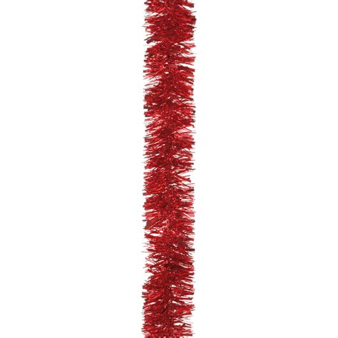 red tinsel christmas tree decoration