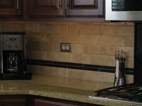 travertine kitchen backsplash travertine backsplash we finally decided to add