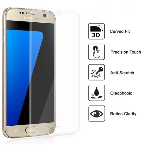 Zagbox Tempered Glass Samsung Galaxy S7 Clear 3d curved tempered glass screen protector galaxy s7 clear