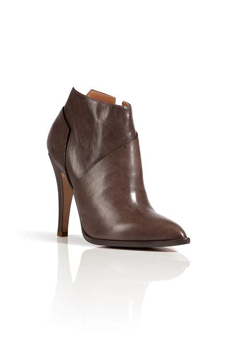 pointed toe ankle boots maison martin margiela leather pointed toe ankle boots in