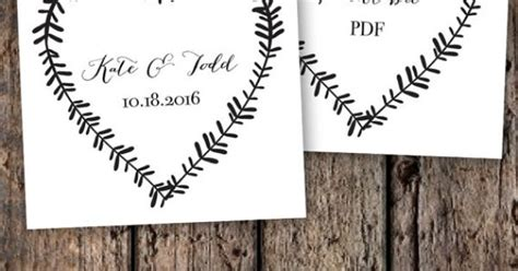 free printable rustic letters wedding tag template printable editable rustic by