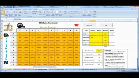 bowl spreadsheet template bowl squares 2016 excel template for office pools