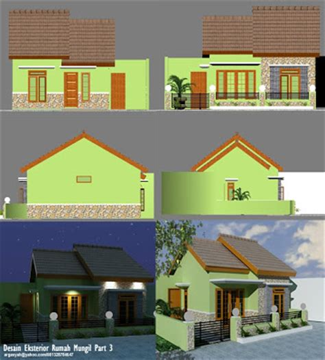 desain eksterior rumah mungil warna hijau argajogja s