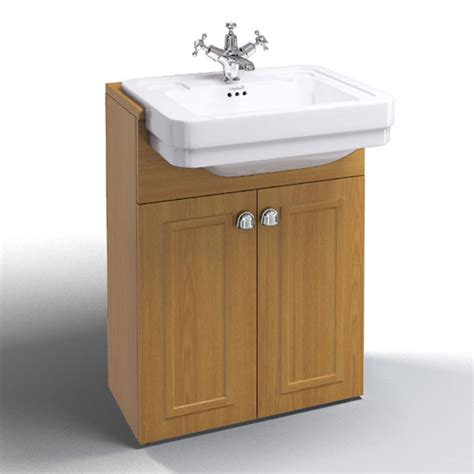 Basin Vanity Unit by Burlington Classic Semi Recessed Basin With Vanity Unit