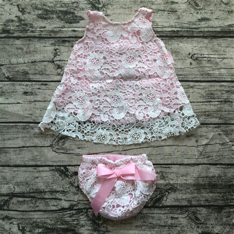 Kb Set Baby Pink 2016 baby baby clothing sets infant pink lace swing sets swing tops