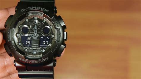 G Shock Original Ga 100cf 1a Hitam by Review Casio G Shock Ga 100cf 1a Jam Serba Hitam Dengan