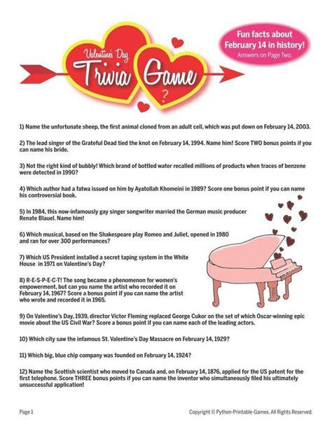 printable valentines quiz 19 best valentine s day printable games images on