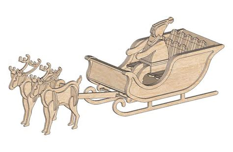 wood pattern santa sleigh best photos of 3d santa sleigh pattern free 3d christmas