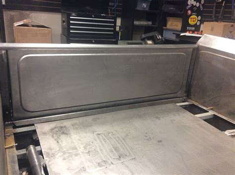 bead rolled panels custom built tailgate for pile house eastwood