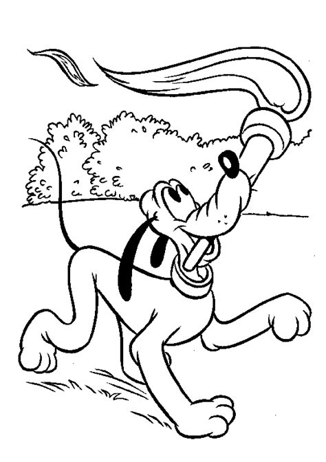 coloring pages of pluto and mickey mouse pluto coloring pages