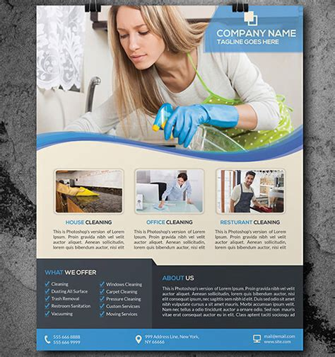 House Cleaning Flyer Template 17 Psd Format Download Free Premium Templates Cleaning Company Flyer Template
