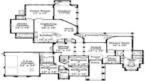 one story luxury floor plans luxury hardwood flooring one