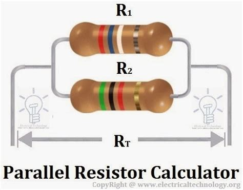 calculate resistor parallel parallel resistor calculator electrical technology