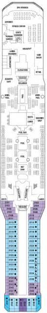 Celebrity Solstice Floor Plan by Celebrity Solstice Deck Plans Cruisekings