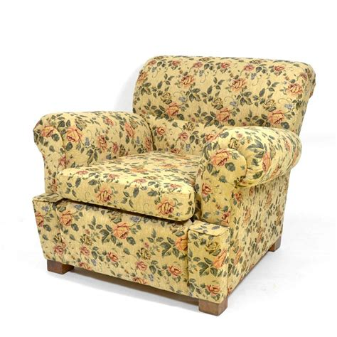 vintage armchair with floral pattern for sale at pamono
