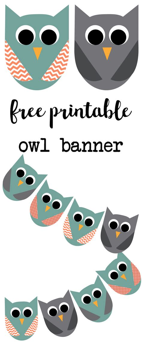 printable owl birthday banner free printable owl banner owl party paper trail design