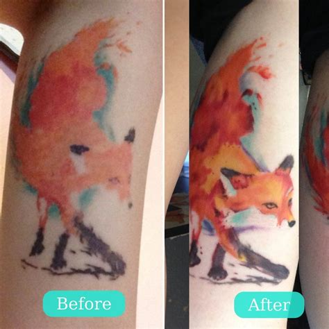 watercolor tattoos healed educational this is why all those pretty quot watercolor