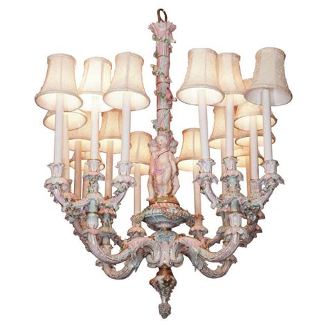 Vintage Porcelain Chandelier Antique Porcelain Quot Dresden Quot Chandelier At 1stdibs