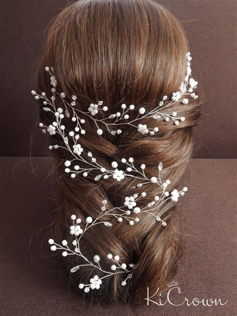 hairstyles with hair vines long vine bridal hair bridal hair vine pearl bridal
