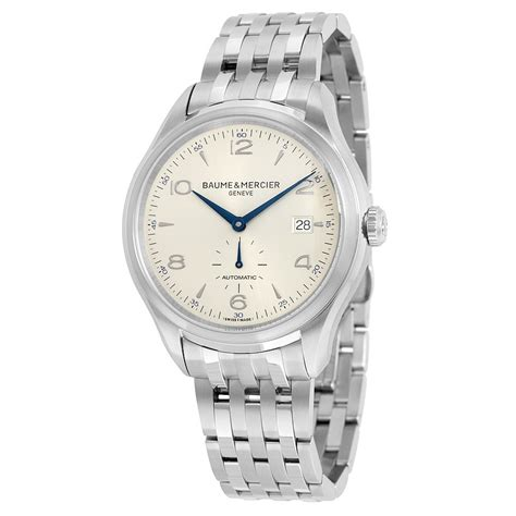 baume and mercier clifton automatic silver s