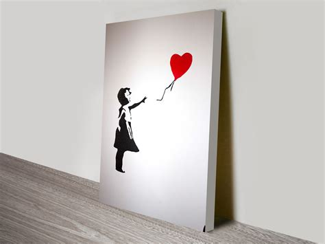 Canvas Without Frame balloon girl with heart banksy artwork on canvas