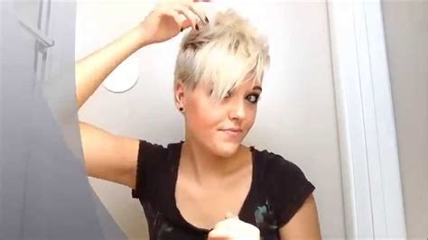 styling pixie with bangs how to style really short pixie hair youtube