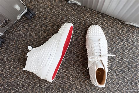 christian louboutin mens white sneakers christian louboutin louis white spikes leather sneaker