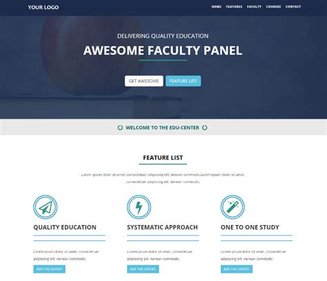 free educational website templates html and css 18 best free education html website templates 2018