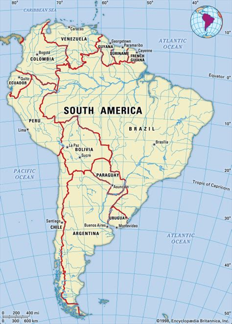 south america map bodies of water orinoco river map