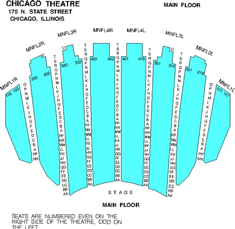 chicago theater floor plan venue seating charts 101 9fm chicago wtmx