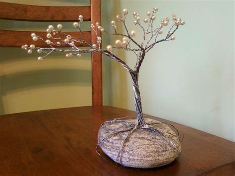 how to make a wire jewelry tree make a tree from jewelry wire gems rock and craft