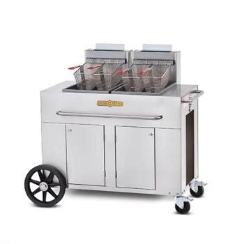 crown verity pf 2 portable outdoor fryer w/double tank