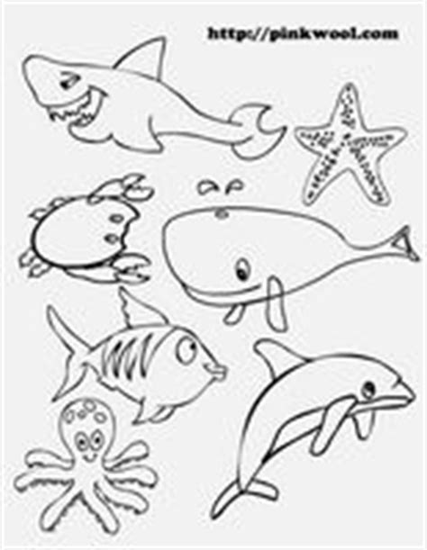printable ocean animal cutouts kindergarde ocean activity worksheets miss stephie s