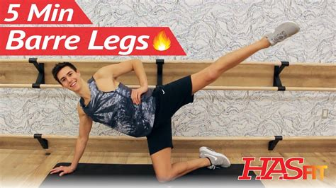 5 min barre leg thigh workout at home w and the