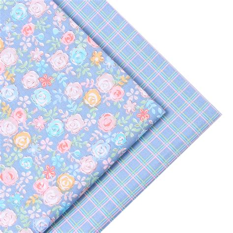 Sewing A Patchwork Quilt - 2016 new 2 pic lot 40x50cm cotton fabric sewing quilting