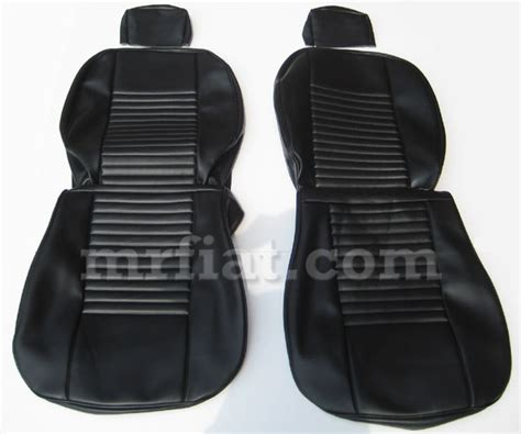 fiat 124 coupe black seat covers set new