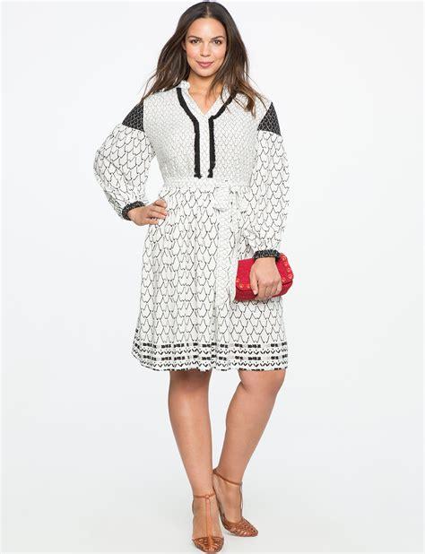 peasant sleeve patterned dress s plus size dresses