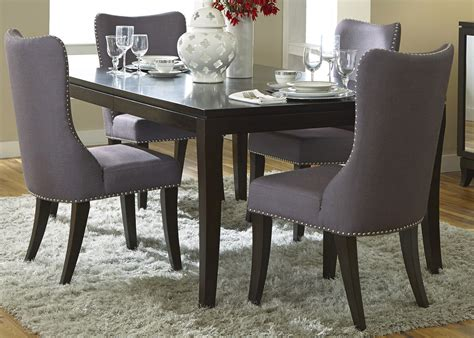 black fabric dining room chairs grey upholstered dining chairs decofurnish