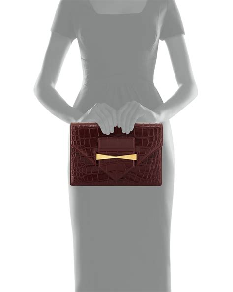 Bags Are Big Carry A Clutch by Lyst Mcqueen Large Croc Embossed Envelope
