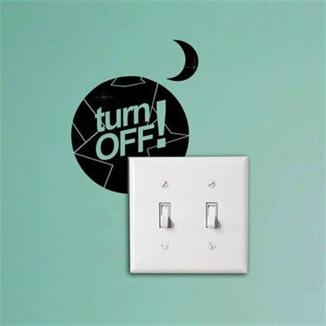 energy wall stickers turn office eco reminder light switch sticker http