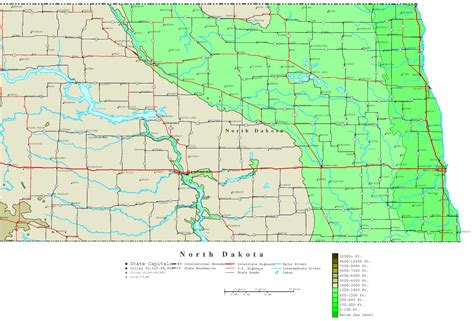 nd map dakota contour map