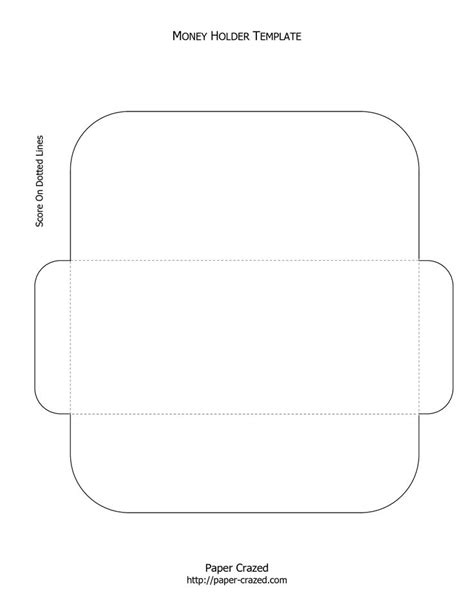 printable money holder card template money holder template purses